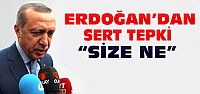 Cumhurbaşkanı Erdoğan'dan Tepki:Size Ne-VİDEO