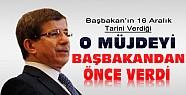 Davutoğlu O Müjdeyi Başbakan'dan Önce Verdi