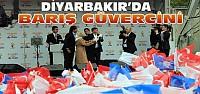 Davutoğlu'ndan Diyarbakır'da Barış Güvercini