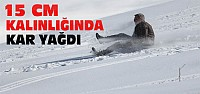 Derbent Aladağ'daki Kar Sevindirdi