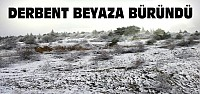 Derbent'e Kar Yağdı