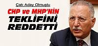 Ekmeleddin İhsanoğlu'ndan CHP ve MHP'ye Ret