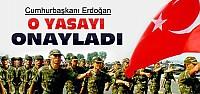 Erdoğan Bedelli Askerlik Yasasını Onayladı