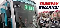 Erdoğan Konya'da Tramvay Kullandı