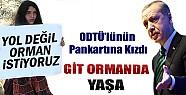 Erdoğan Pankarta Kızdı: Git Ormanda Yaşa