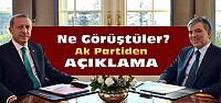 Erdoğan ve Gül Çiçek'in Odasında Görüştü
