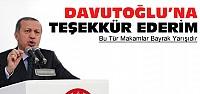 Erdoğan'dan Davutoğlu'na teşekkür
