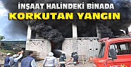 Ereğli'de inşaat halindeki binada yangın