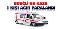 Ereğli'de Otomobil Bisiklete Çarptı
