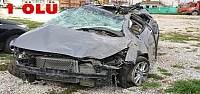 Feci Kaza:Otomobil Takla Attı: 1 Ölü