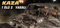 İki Otomobil Çarpıştı:1 Ölü-2 Yaralı