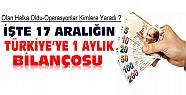 İşte 17 Aralığın Türkiye'ye 1 Aylık  Faturası-Operasyon Kimlere Yaradı ?