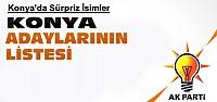 İşte Ak Partinin Konya Milletvekili Adayları