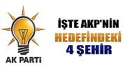 İşte AKP'nin Hedefindeki 4 Şehir