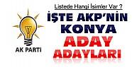İşte AKP'nin Konya ve İlçelerindeki Aday Adayları-Sıralı Liste