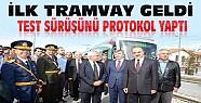 İşte Konya'nın Yeni Tramvayı-Protokol Deneme Sürüşü Yaptı