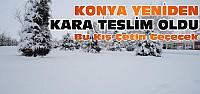 Kar Yağışı Yeniden Konya'yı Esir Aldı