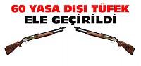 Kargoyla Gönderilen Yasa Dışı Tüfekler Yakalandı