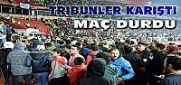 Konya Başakşehir Maçında Tribünler Karıştı-VİDEO