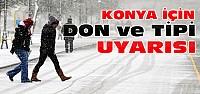 Konya İçin Don-Tipi ve Buzlanma Uyarısı