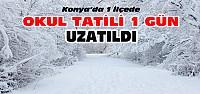 Konya'da 1 İlçede Okul Tatili Uzatıldı