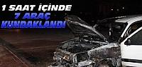 Konya'da 1 saat içinde 7 aracı yaktılar