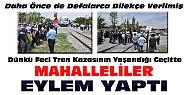 Konya'da 2 kişinin öldüğü feci tren kazasının yaşandığı geçitte eylem