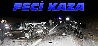 Konya'da 2 Otomobil kafa kafaya çarpıştı