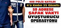 Konya'da 400 Polisli Uyuşturucu Operasyonu