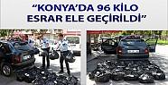 Konya'da 96 kg esrar yakalandı