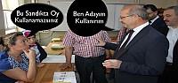 Konya'da Ahmet Sorgun Sandık Başkanıyla Tartıştı