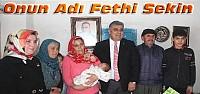 Konya'da Bir Bebeğe Fethi Sekin Adı Verildi