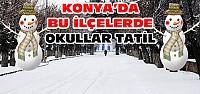 Konya'da Bu İlçelerde Okullar Tatil