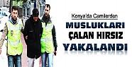 Konya'da Camilerden Muslukları Çalan Hırsız Yakalandı