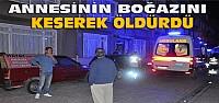 Konya'da Cinayet:Annesinin Boğazını Keserek Öldürdü