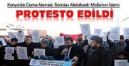 Konya'da Cuma Namazı Sonrası Protesto