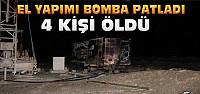 Konya'da el yapımı bomba patladı:4 ölü