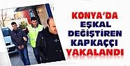 Konya'da Eşkal Değiştiren Kapkaççı Polisten Kaçamadı