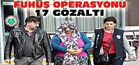 Konya'da Eşzamanlı Fuhuş Operasyonu:17 Gözaltı