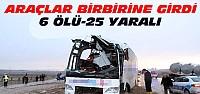 Konya'da Feci Kaza:6 ölü 25 Yaralı