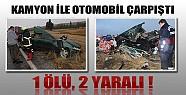 Konya'da Feci Kaza: 1 Ölü, 2 Yaralı!