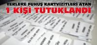 Konya'da fuhuş kartvizitleri atan kişi tutuklandı