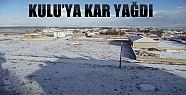 Konya'da Güneş Kulu'da Kar Var