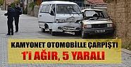 Konya'da Kamyonet Otomobille Çarpıştı: 5 Yaralı