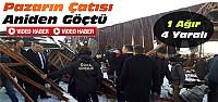 Konya'da Kapalı Pazar Yerinin Çatısı Çöktü-VİDEO
