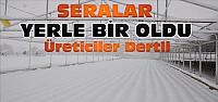 Konya'da Kar Nedeniyle Seralar Zarar Gördü