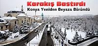 Konya'da Kar Yağışı ve Soğuklar Bastırdı