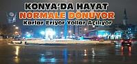 Konya'da Kar Yağışının Ardından Hayat Normale Döndü