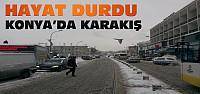 Konya'da Kış Bastırdı-Hayat Durdu