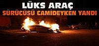 Konya'da lüks araç alev alev yandı